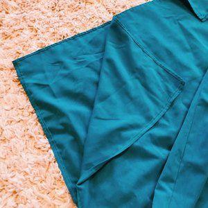 Vintage Dresses - Vintage Units Bright Blue V-Neck Maxi Dress